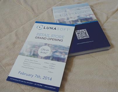 Lunasoft Grand Opening / Flyer Design / Infographic