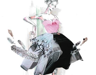 Fashion Illustration assignment  (2012)