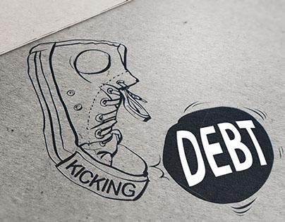Kicking Debt Logo