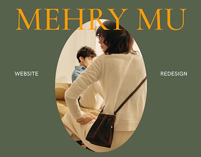 Mehry Mu — website redesign