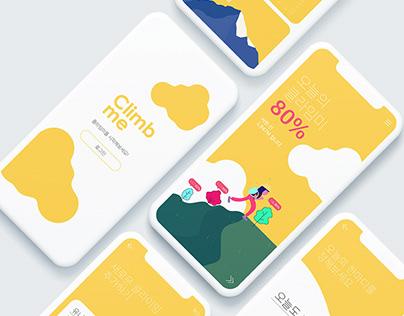 Climb me / UIUX Design