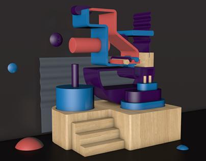 Still life 3D render