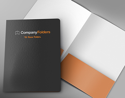 [Free PSD] Front Cover & Open Folder Mockup Template