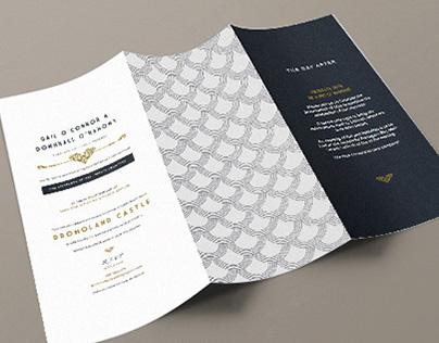 VINTAGE | ART DECO TRIFOLD WEDDING INVITATION DESIGN