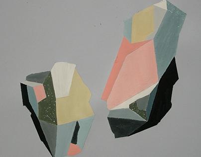 Geometric painting 50x70