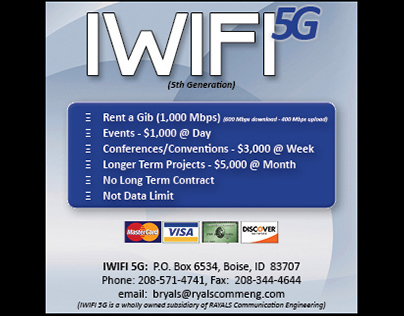 Mock Up for the IWIFI in Boise, ID