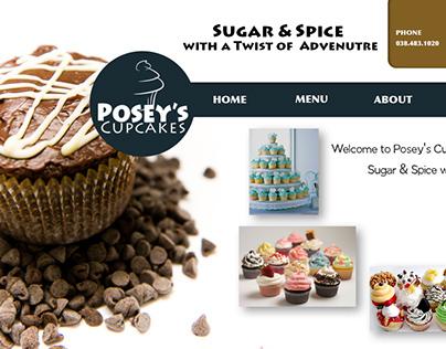 Posey's Cupcakes new website