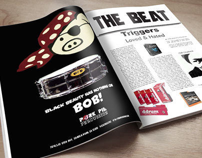 Magazine advertisement and editorial design