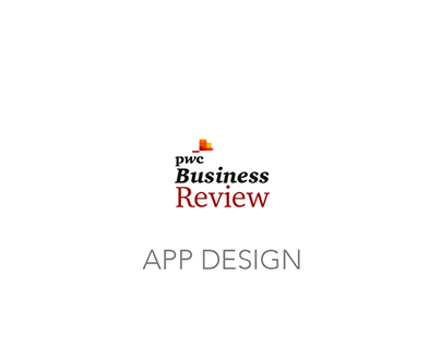 App Design · PwC Business Review