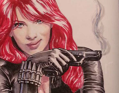 Black Widow sketch cover