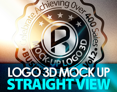Photorealistic Logo 3D Mock-Up - Vol.3