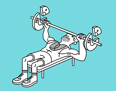 Business & Fitness Illustrations