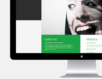 Web Design & Responsive Design – Kursiv AG