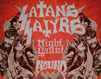 Satan's Satyrs Live in Rome Playbill and Facebook Cover