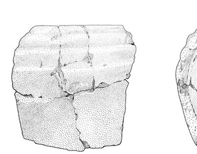 Archaeological drawings - rapidograph on mylar