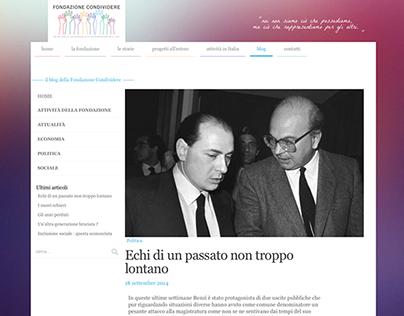 No-profit foundation's blog