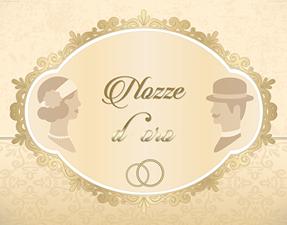 INVITATION CARD - Golden wedding