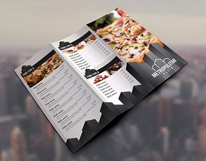 Creative Tri-Fold Food Menu 16