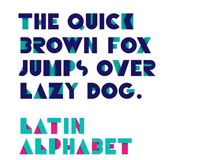 Geometric Alphabet letters. Retro font