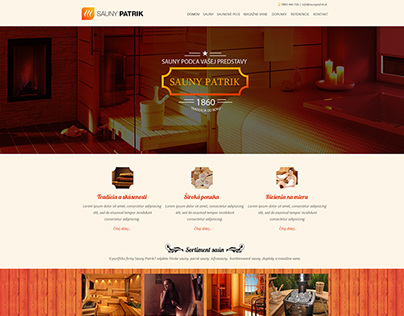 Saunas and massage baths - webdesign