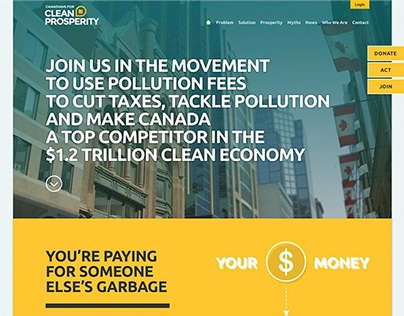Canadians for Clean Prosperity Branding and Website