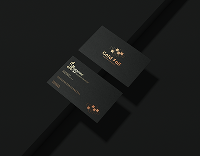 Free Gold Foil Business Card Mockup PSD Vol 2