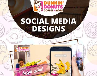 Dunkin Donuts Social Media