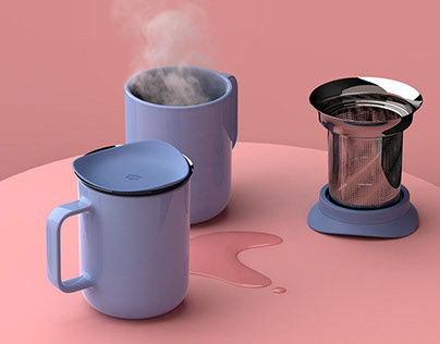 Mug with infuser & Lid | 三件杯