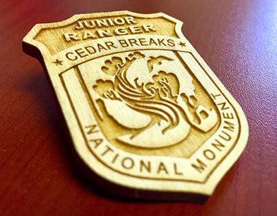 Wooden Jr. Ranger Badge