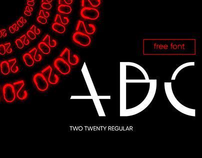 TWO TWENTY (free font)