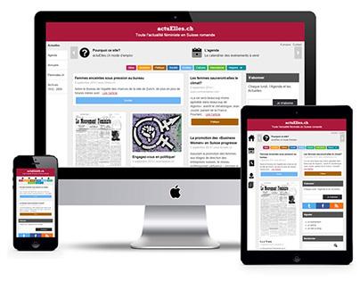 Actuelles.ch site design