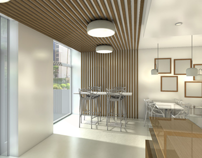 Projeto 3D Sanck Bar Av. Julius Neyerere