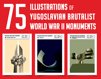 75 Illustrations of Yugoslavian Brtualist World War II