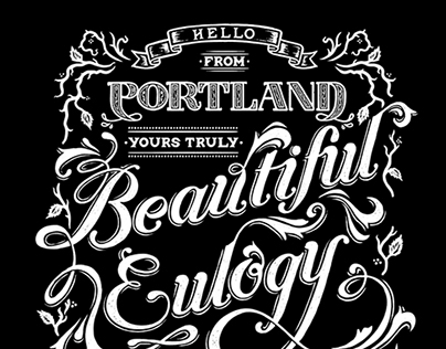 """Beautiful Eulogy - """"Yours Truly"""" T-Shirt Design"""