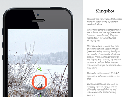 Slingshot Camera App