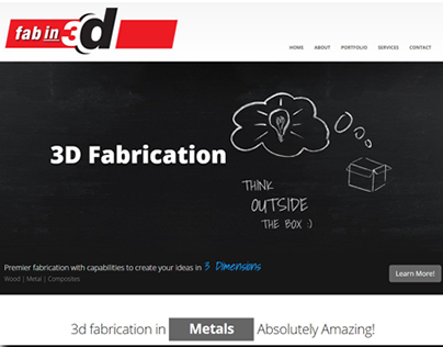 Fab in 3D Responsive Website Design