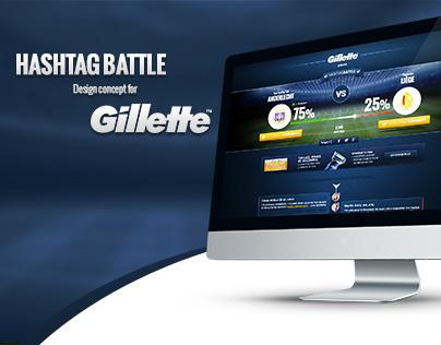 Hashtag battle concept for Gillette