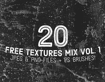 20 Free Textures Mix Vol. 1 (JPEG, PNG & PS Brushes)
