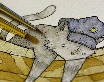 Pen & Watercolor VI