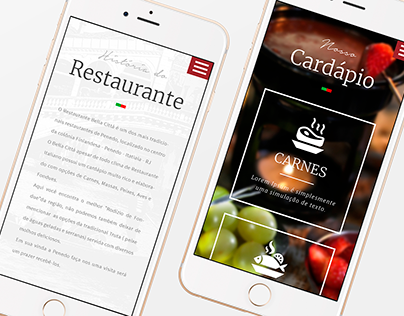 Restaurant Bella Cittá   Responsive Web Site