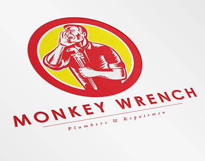 Monkey Wrench Plumbers Logo