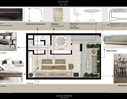 Vizcaino house interior design reform