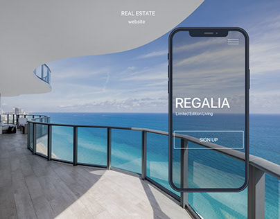 REGALIA - real estate site concept