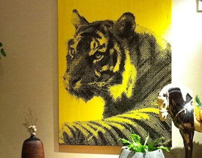 TIGER (120X180 acrilyc on canvas)