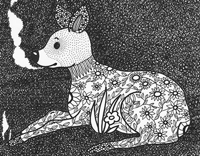 animal winter / drawing book //