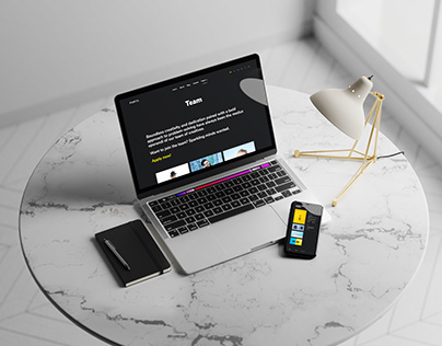 MacBook with iPhone Mockup