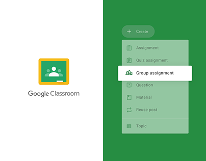Google Classroom - Group assignment feature