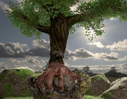 Tree awakes (3d model)