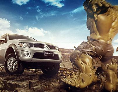 Triton vs Hulk | Creative Retouch
