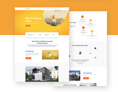 Solar Power Landing Page